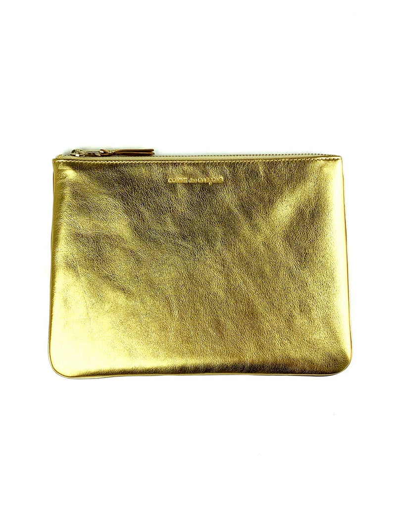 CDG Gold Clutch Wallet