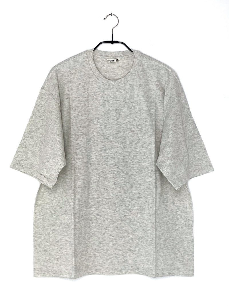 Seamless Crew Neck Half Sleeve T-Shirt Gray