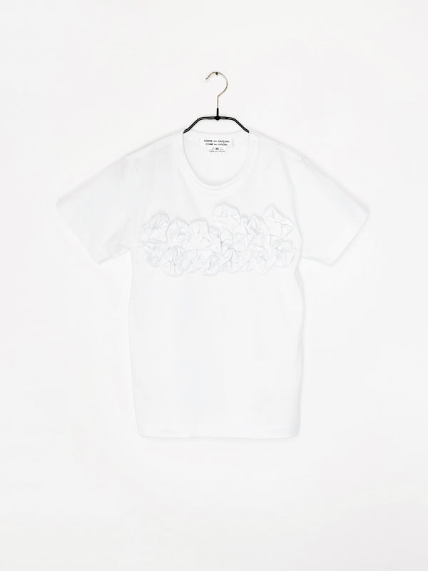 CDG T-Shirt White ruffled bust T-Shirt