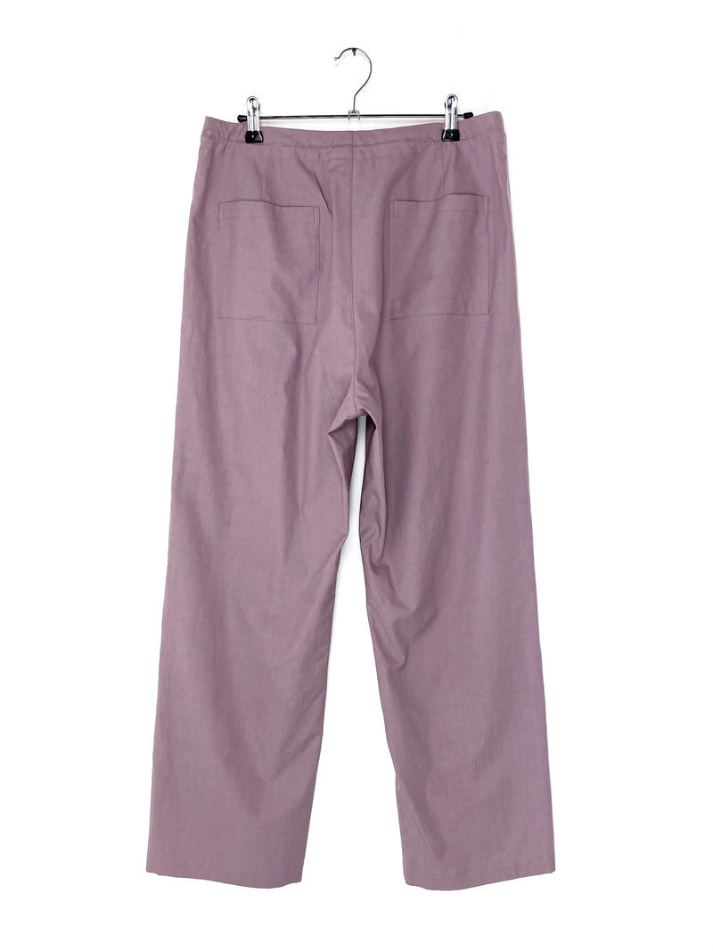 Washed Finx Twill Easy Wide Pants Purple