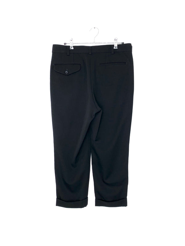 CDG Black straight leg trouser