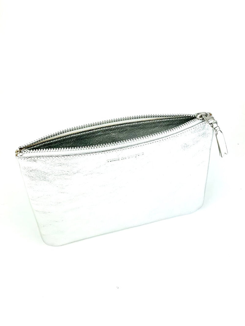 CDG Silver Clutch Wallet
