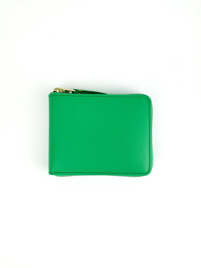 CDG Colour Line Zip Around Wallet Green