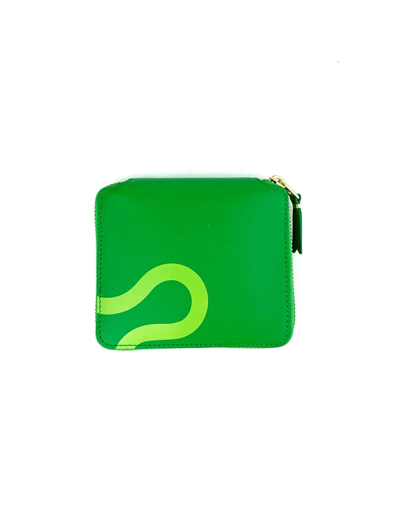 CDG Ruby Eyes Green Zip Around Wallet