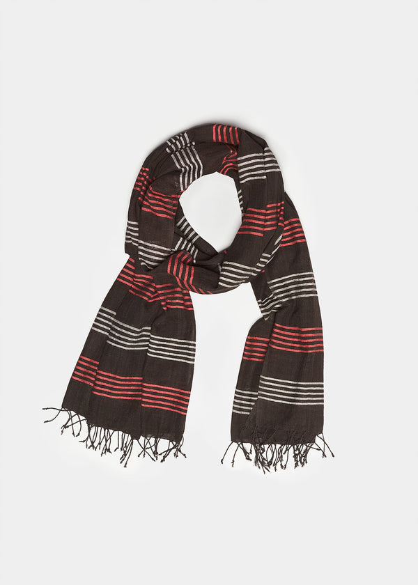 «Adwa» Scarf in Black, Red, White
