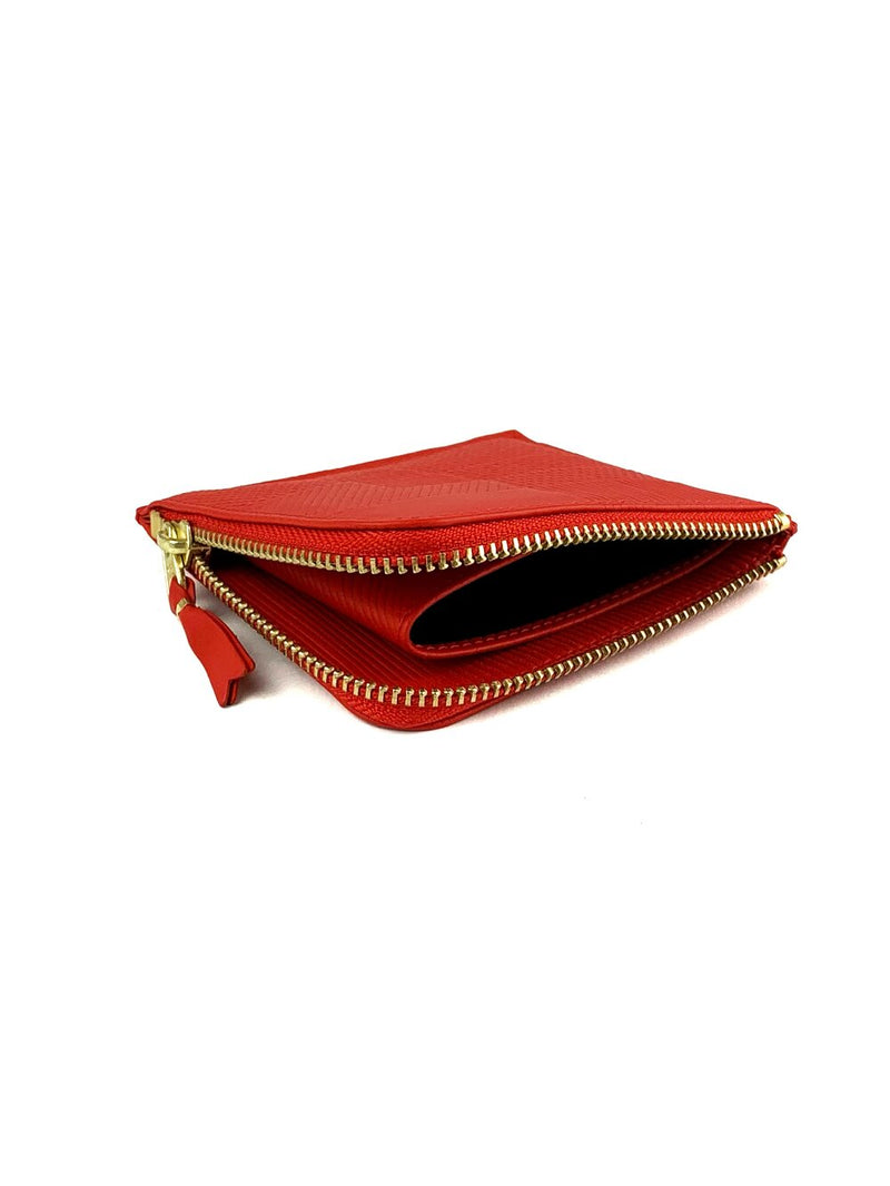 CDG Intersection Side Zip Wallet Red