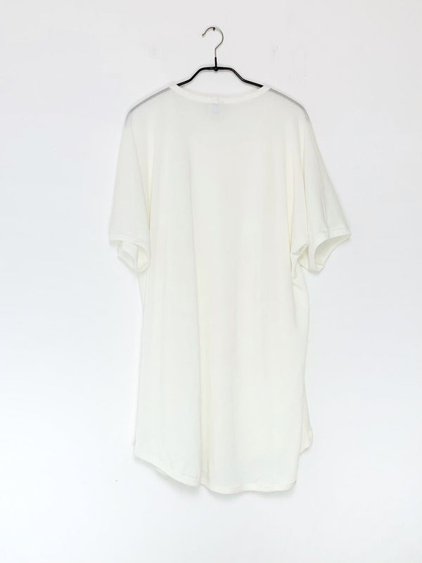 Oversized Off-White Washi Cotton Jersey Tee Nr.67