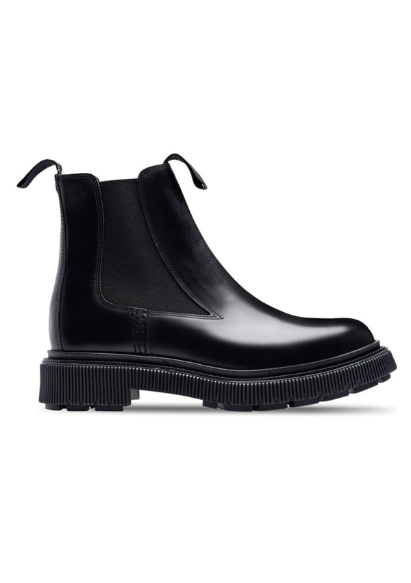 X Études Type 146 Black Polished Leather Chelsea Boot