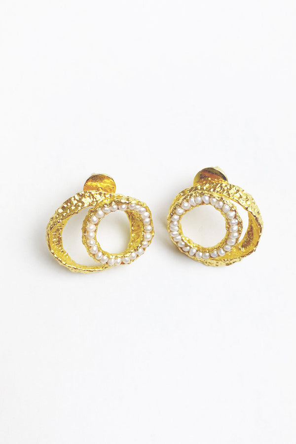 Double hoops earrings
