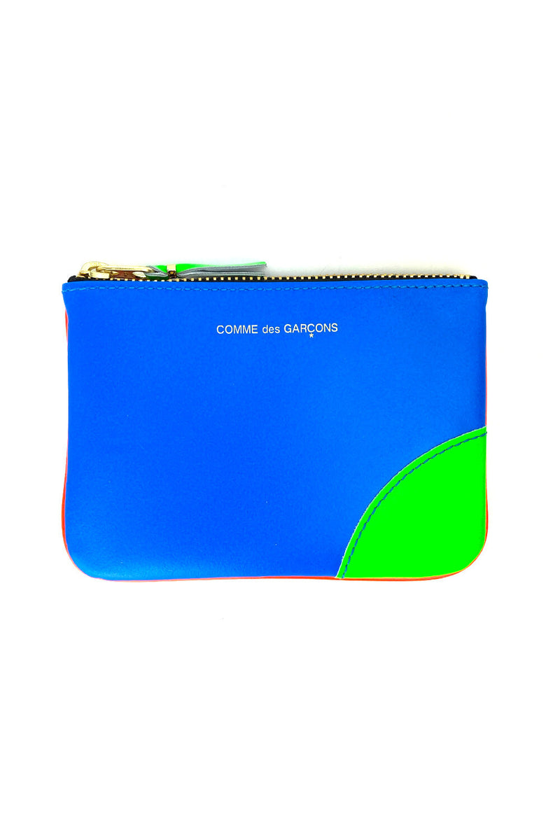 CDG super fluo small pouch blue orange