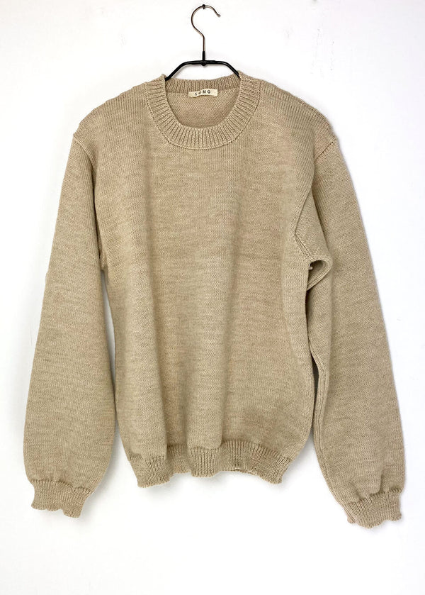 Knitted Wool Blend ECOLOGICA Natural JAM Jumper