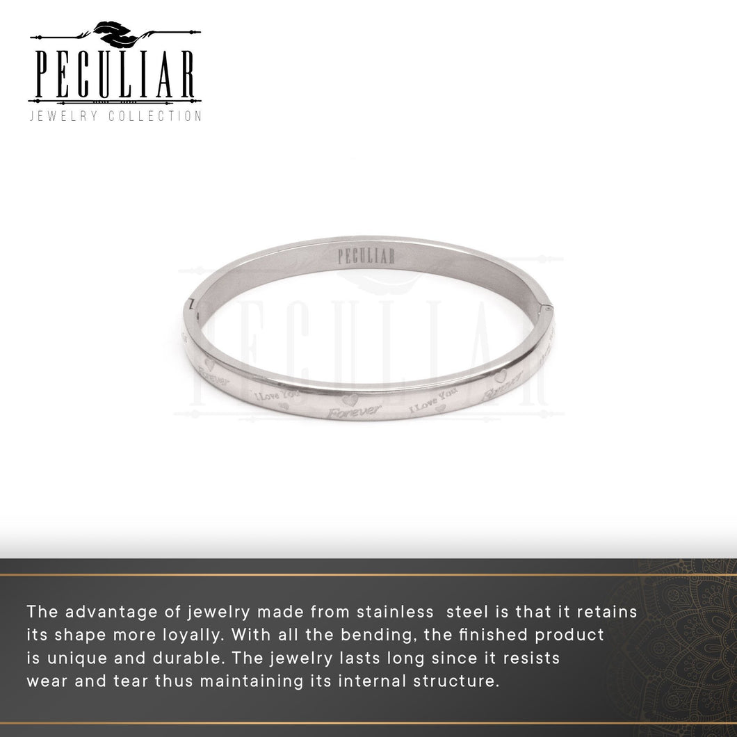 Peculiar Jewelry Locked Forever Bangle Bracelet