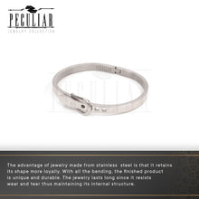 Load image into Gallery viewer, Peculiar Jewelry Hinged Belt Buckle Bangle Bracelet