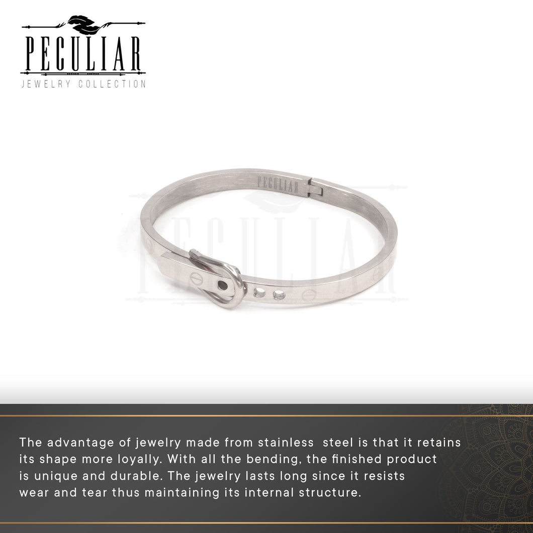 Peculiar Jewelry Hinged Belt Buckle Bangle Bracelet