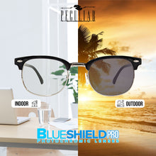 Load image into Gallery viewer, Peculiar CLUBMASTER Square BLACKSILVER Polycarbonate Frame Photochromic Transition PRO