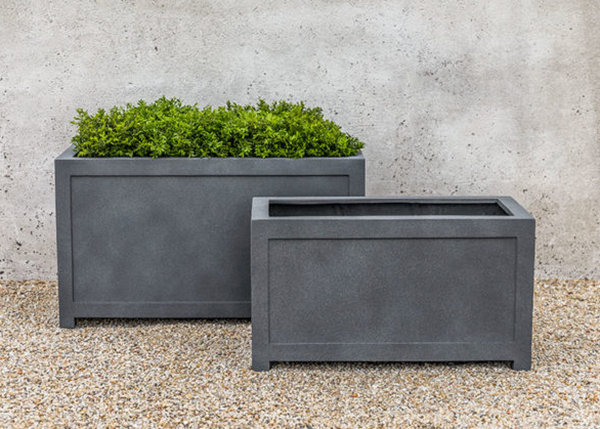 Oxford Rectangle Planter - Lead Lite