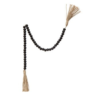 Tassel Prayer Beads - Black
