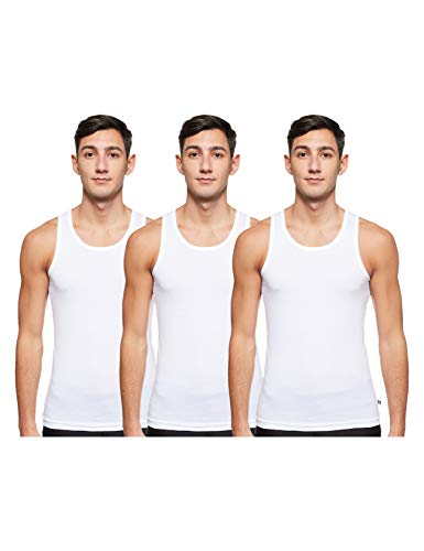 Jockey Men's Vest (Pack of 3) (8820-03_White_XX-Large_White_XX-Large)