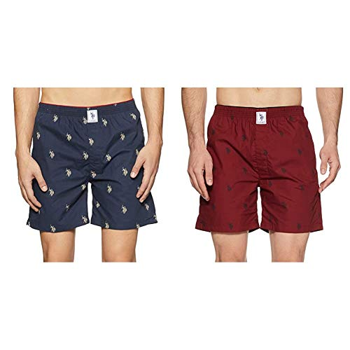 U.S. Polo Assn. Underwear - (Pack of 2 Navy_Maroon)