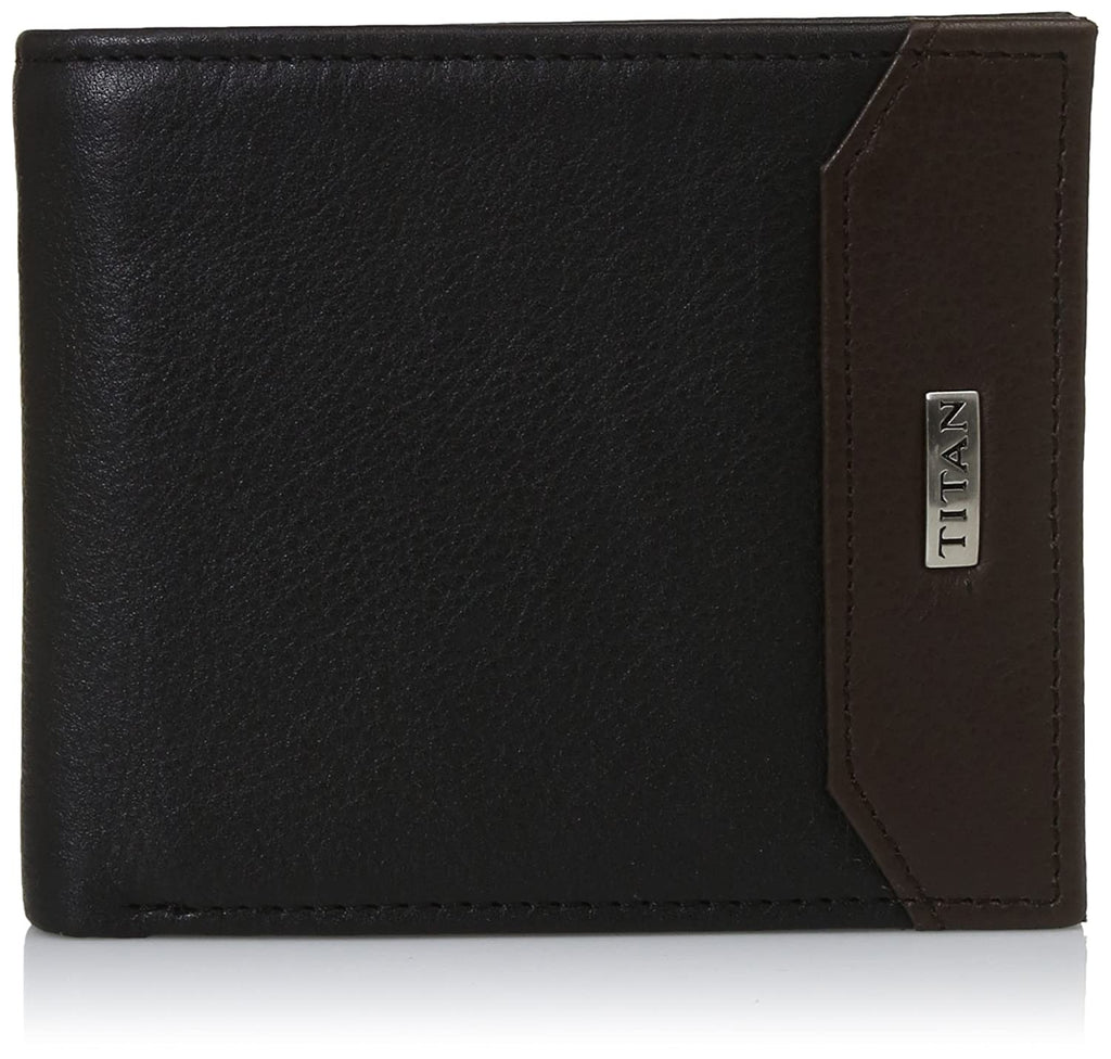 Titan Black Men's Wallet (TW208LM1BK)