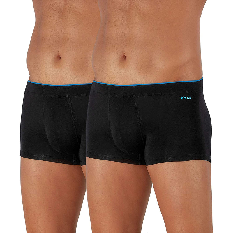 XYXX Men's Underwear Uno IntelliSoft Antimicrobial Micro Modal Trunk (Pack Of 2)