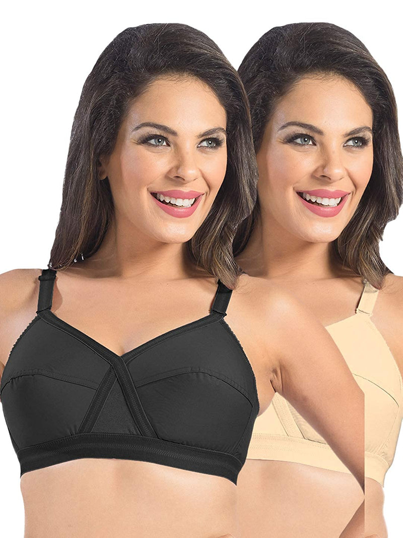 Sonari Kirtika Regular Bra ( Multi Color Pack of 2 )