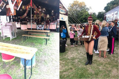 Gifford Circus food stand and smiling attendant