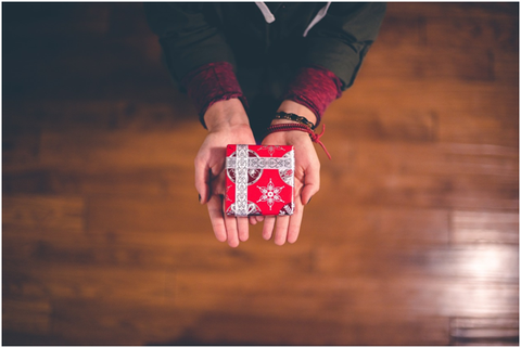 giving a present to someone
