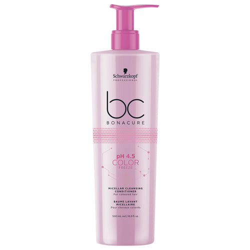 LIMPIADOR PARA CABELLO TEÑIDO BC BONACURE pH 4.5 COLOR FREEZE MICELLAR CLEANSING CONDITIONER 500ML