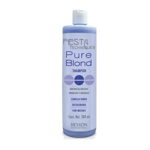 SHAMPOO MATIZADOR FIESTA PURE BLOND 500ML