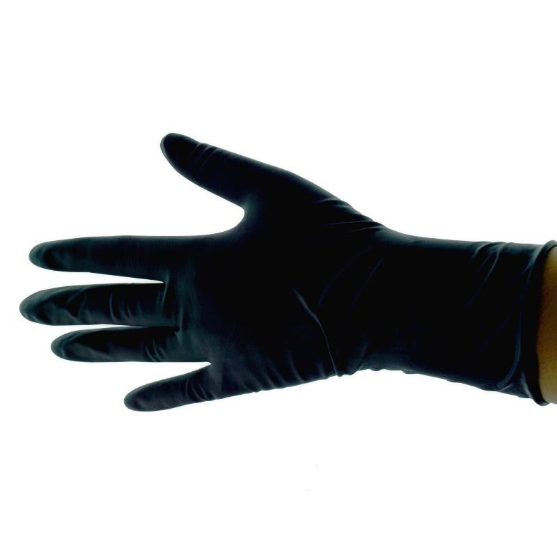 GUANTE NEGRO USO RUDO LATEX REUSABLE