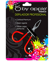 PINZA P/DEPILAR BY APPLE CH ROJO NEON 9512