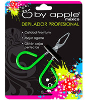 PINZA P/DEPILAR BY APPLE CH VERDE NEON 9513