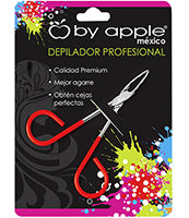 PINZA P/DEPILAR BY APPLE GDE ROJO NEON 9511