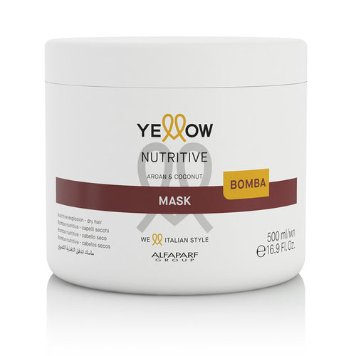 ACONDICIONADOR PARA CABELLO SECO YELLOW NUTRITIVE CONDITIONER MASK ARGAN & COCONUT 500ML