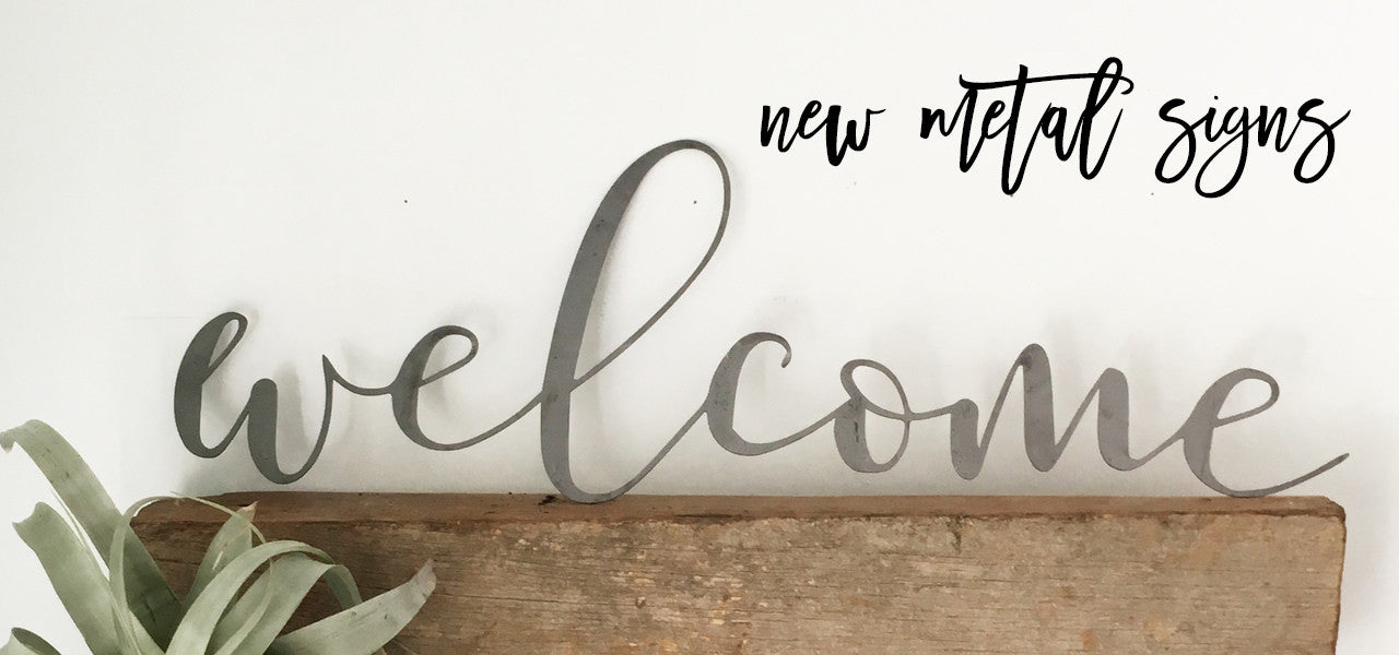 new metal signs home decor from jessicandesigns