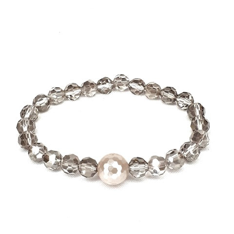 Faith armbånd shell pearl facet.