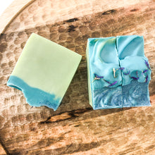 Load image into Gallery viewer, Our Meadow Riverside soap is as lovely as it is packed with luxury ingredients.  It features Tussah Silk, White Kaolin Clay and is scented with essential oils of Neroli, Ylang Ylang, Pachouli, and Clary Sage.