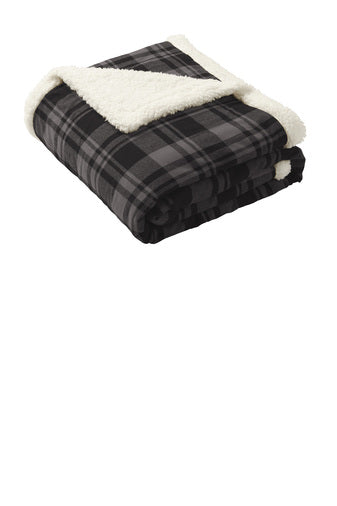 Compost Grow Eat Repeat Flannel Sherpa Blanket