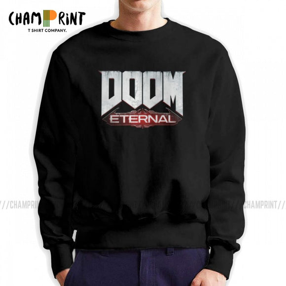 Men Doom Eternal Gaming Hoodie Casual Sweatshirt 100% Cotton Street Pullover Male