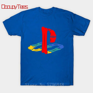 PS gaming Bone splicing design T shirt Xbox Game play station T-shirt Hip hop tshirt Vintage PS1 PS2 PS3 PS4 Gamer brand apparel