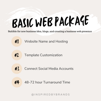 Basic Web Package-Web Design-Inspired By Brands-inspiredbybrands