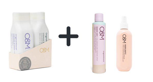 O&M Conquer Blonde duo set + Desert Dry + Know Knott