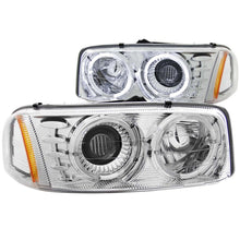 Load image into Gallery viewer, ANZO 1999-2006 Gmc Sierra 1500 Projector Headlights w/ Halo Chrome