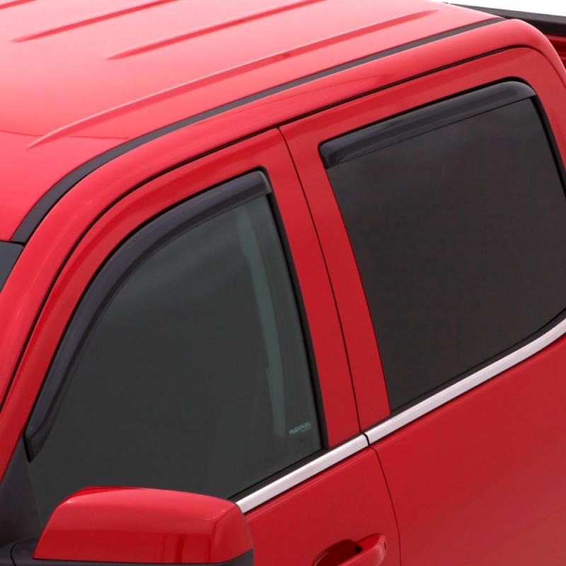 AVS 06-14 Honda Ridgeline Ventvisor In-Channel Front & Rear Window Deflectors 4pc - Smoke
