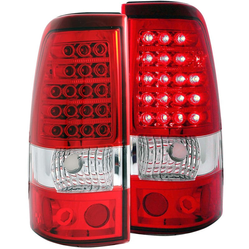 ANZO 2003-2006 Chevrolet Silverado 1500 LED Taillights Red/Clear