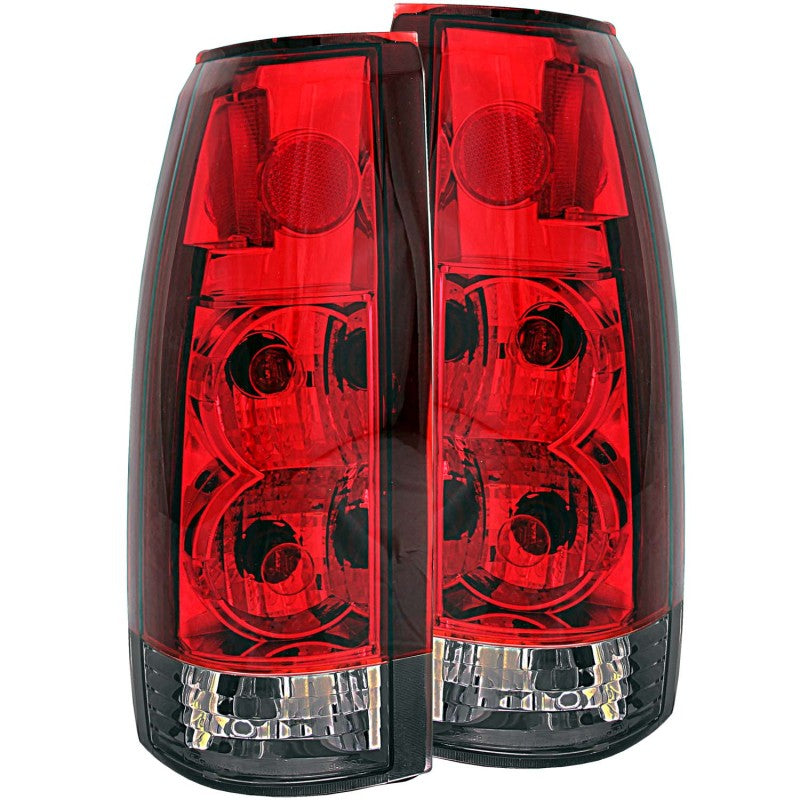 ANZO 1999-2000 Cadillac Escalade Taillights Red/Smoke G2