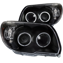 Load image into Gallery viewer, ANZO 2006-2009 Toyota 4Runner Projector Headlights w/ Halo Black