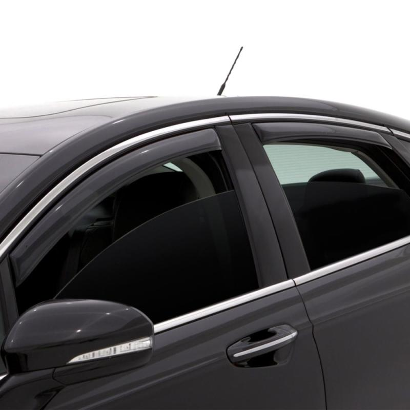 AVS 14-17 Nissan Rogue (Excl. Sport Model) Ventvisor Front & Rear Window Deflectors 4pc - Smoke