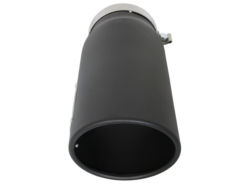 aFe Power MACH Force-Xp 5in In x 6in Out x 15in L Bolt-On 409 SS Exhaust Tip - Black